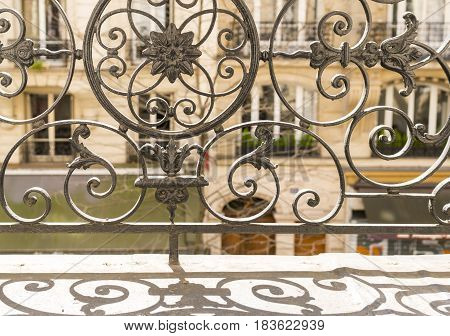 Balcony With Decorative Railing In Paris, France