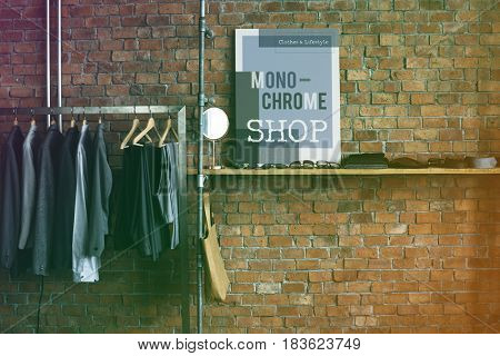 Cloths store interior with contemporary style