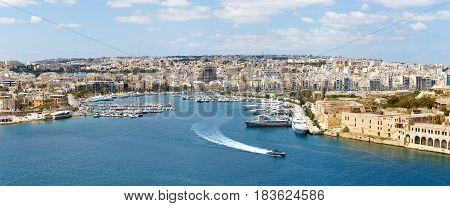 Manoel island yacht marina panorama Malta EU