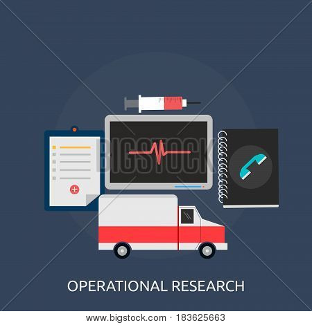 Operational research Conceptual Design | Great flat illustration concept icon and use for science, research, technology, physics, chemistry and much more.