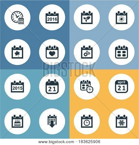 Vector Illustration Set Of Simple Date Icons. Elements Special Day, Date, Deadline And Other Synonyms Data, Day And Reminder.