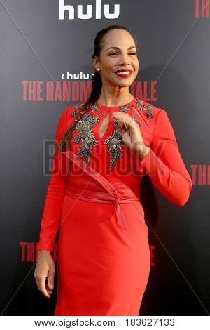 LOS ANGELES - APR 25:  Amanda Brugel at the Premiere Of Hulu's
