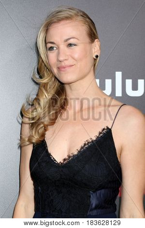 LOS ANGELES - APR 25:  Yvonne Strahovski at the Premiere Of Hulu's