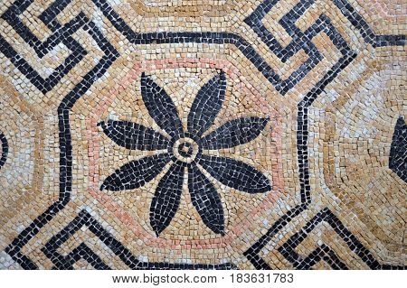 Ancient Roman mosaics found in excavations of Brescia - Lombardy - Italy