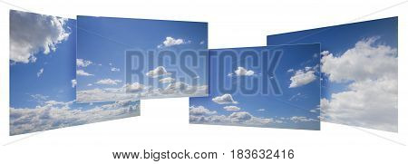Sky concept - Four images of the sky overlapping between their