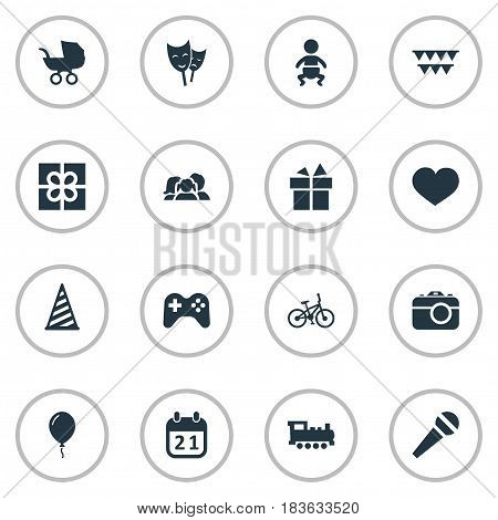 Vector Illustration Set Of Simple Holiday Icons. Elements Domestic, Mask, Soul And Other Synonyms Theater, Balloon And Speech.