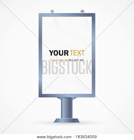 Billboard. The layout for Your advertisement and design.Advertising banner, vector illustration.an empty column.poster