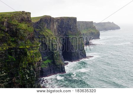 Beautiful view on Cliffs of Moher County Clare Ireland