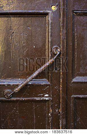 An Ancient Door Handle In Tbilisi Georgia