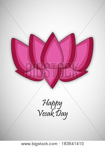 illustration of Lotus flower with Happy vesak day