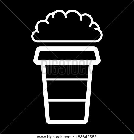 Coffee cup with steam, vector linear design object. eps 10