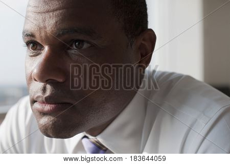 Serious African American businessman