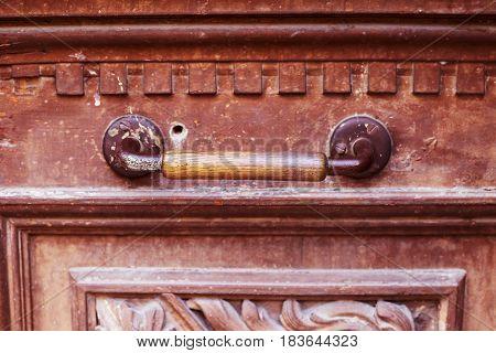An Ancient Door Handle In Tbilisi, Georgia