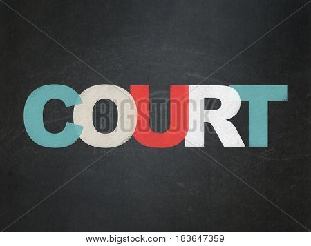 Law concept: Painted multicolor text Court on School board background, School Board