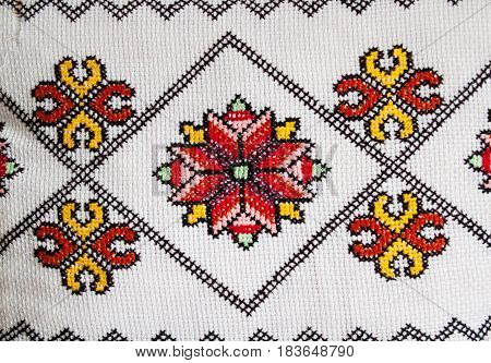 Handmade, Crochet, Embroidery, Various Shades Of Color, Pillowcases