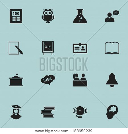 Set Of 16 Editable Graduation Icons. Includes Symbols Such As Creative Idea, Bell, Ring And More. Can Be Used For Web, Mobile, UI And Infographic Design.