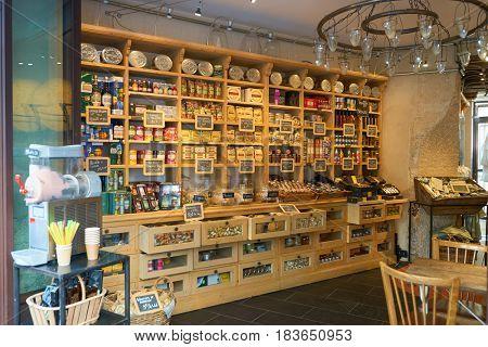 PARIS, FRANCE - CIRCA SEPTEMBER, 2014: goods on display at a store in Paris