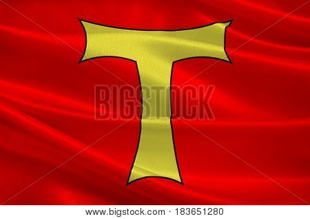 Flag of Toul is a commune in the Meurthe-et-Moselle department in north-eastern France. 3d illustration