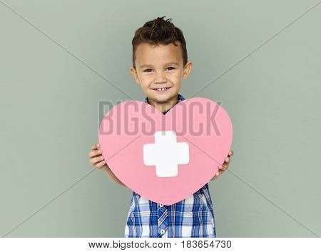 Happy Little kid heart care