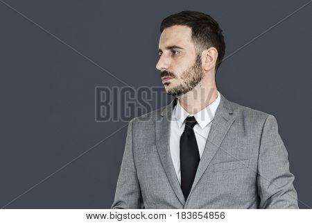 Caucasian Business Man Studio