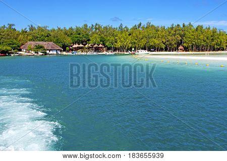 Beach Ile Du Cerfs Seaweed   Indian People And Rock