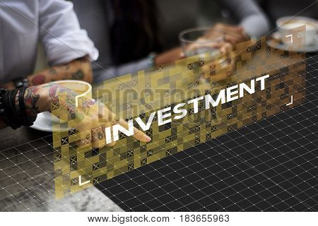 Investment Business Venture Stock Market Graphic