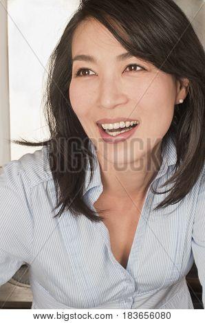 Smiling Korean woman
