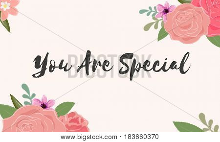You Are Special Letter Message Words Graphic