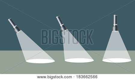 Flashlight isolated on transparent background. Vector illustration