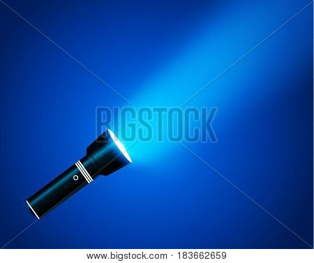 Flashlight on transparent background. Vector illustration