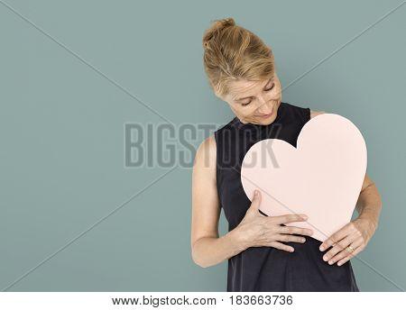 Heart Love Adore Affection Blonde Woman