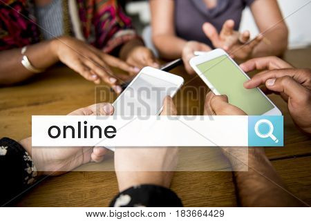 Workers working on network graphic digital device