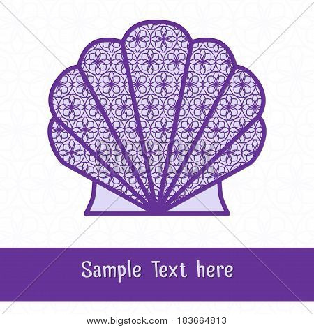 Paper cutting card. Decorative openwork shell. Can be used for laser or plotter cutting