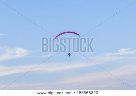 Paraglider In The Air