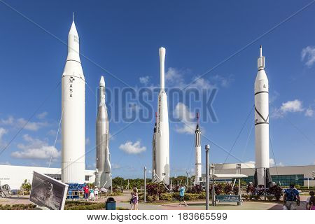 The Rocket Garden At Kennedy Space Center Features 8 Authentic Rockets From Past Space Explorations