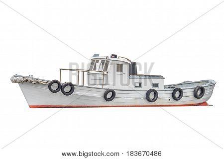 image of fishing boat isolated on white background