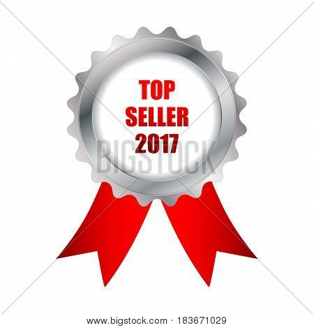 top seller 2017 badge, vector design, eps10