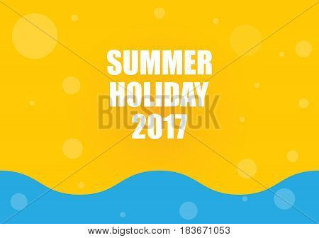 summer holiday 2017 abstract background, eps10 illustration
