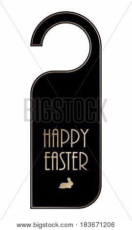 special easter door knob vector eps10 design, black-gold