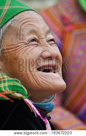 Hmong Minority People In Traditional Dress. Sa Pa, Northern Vietnam