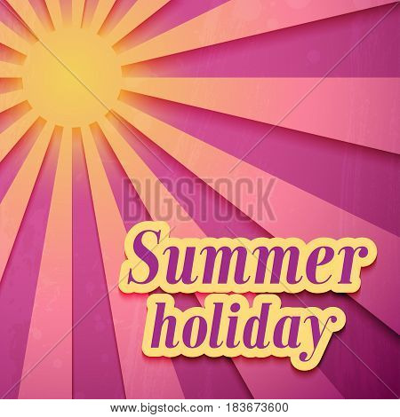 Summer Holiday creative colorful background. Vector illustration.