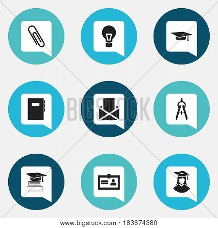 Set Of 9 Editable Graduation Icons. Includes Symbols Such As Graduated Female, Envelope, Education And More. Can Be Used For Web, Mobile, UI And Infographic Design.