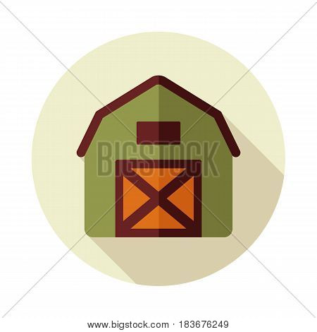 Barn house flat vector icon isolated garden eps 10
