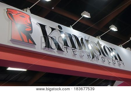 TAIPEI TAIWAN - DECEMBER 6, 2016: Kingston Technology. Kingston Technology is an American privately held multinational computer company based in California.