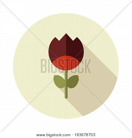 Flower flat vector icon outline isolated garden eps 10