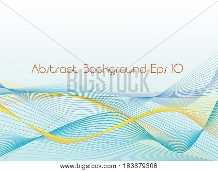 Vector - Abtract shape and waves background . eps 10 file