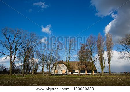 Abandoned farm in Amersfoort, the Netherlands