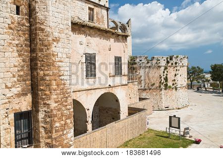 Perspective of the Castle of Conversano. Puglia. Southern Italy.