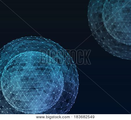 Global network internet technologies. Digital 3d illustration