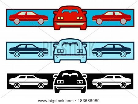 Graphic for cars, mechanics or sales, three variations